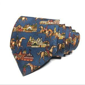 Salvatore Ferragamo Victorian Lifestyle Print Tie
